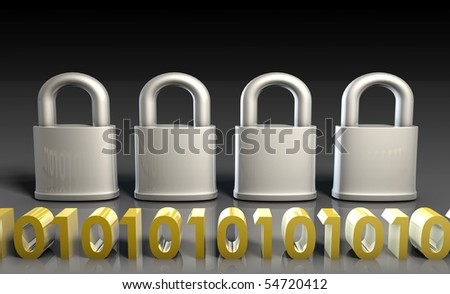 Secure Gateway for Technology Encryption as Art - stock photo