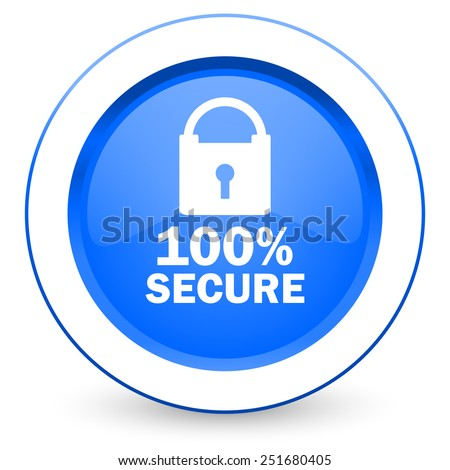 secure icon   - stock photo