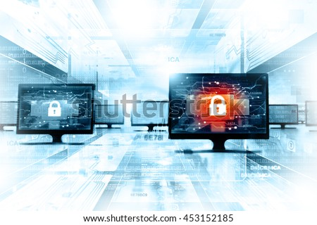 Secure network background - stock photo