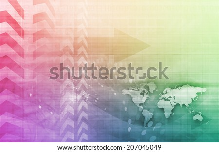 Secure Network with Global Protection of Data Art - stock photo