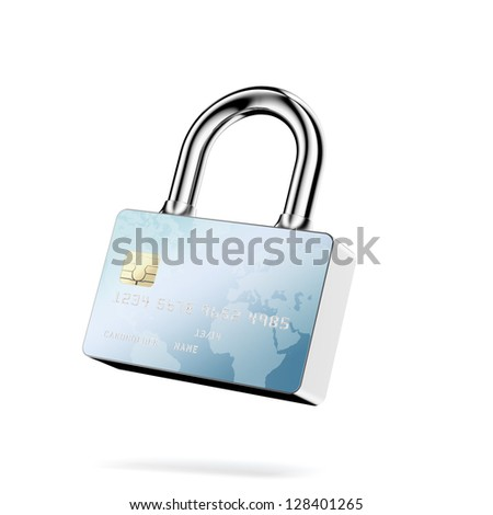 Secure Payments. Closed lock - stock photo