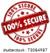 Secure stamp - stock photo