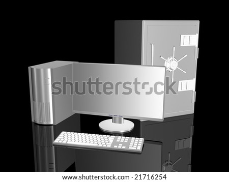 Secure System - stock photo