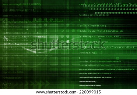 Secure Technology and Protect Data Information Concept - stock photo