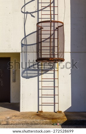 secured ladder