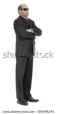 Security agent bodyguard - stock photo