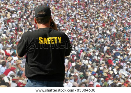 Security agent surveillance - stock photo