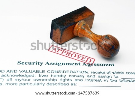 Security assignment form - stock photo