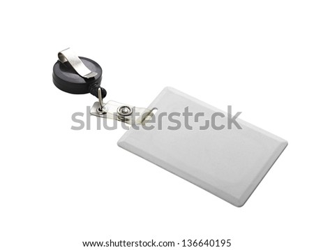Security badges for access. On white background. (clipping path) - stock photo