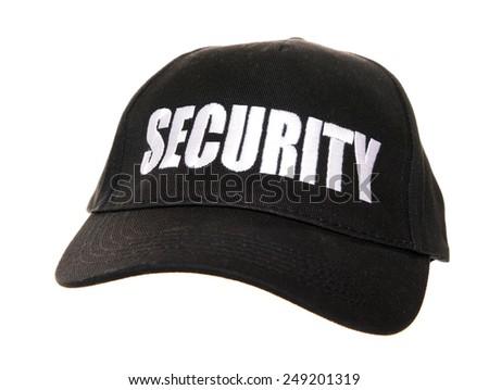 security baseball cap studio cutout - stock photo