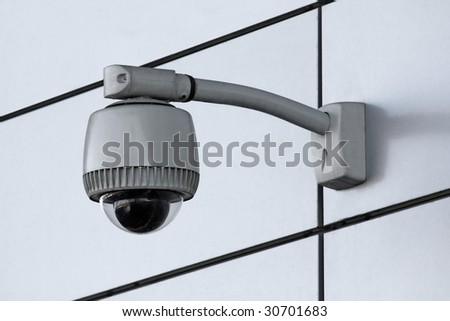 security camera - stock photo
