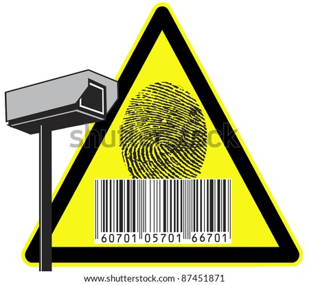 Security camera: Big brother is watching you - stock photo