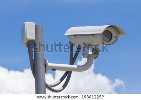 Security camera CCTV video surveillance  - stock photo