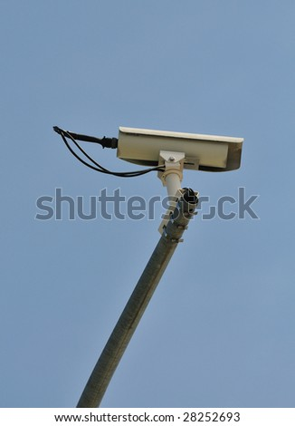 security camera in the intersection - stock photo