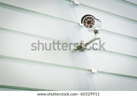 Security camera is watching you!
