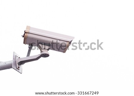 security camera isolate on white background