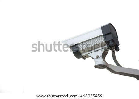 Security camera on a white background