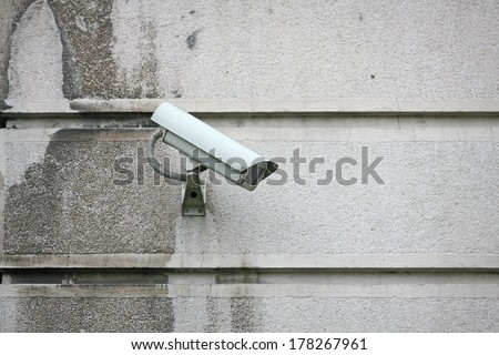 Security Camera on the wall, Private property protection