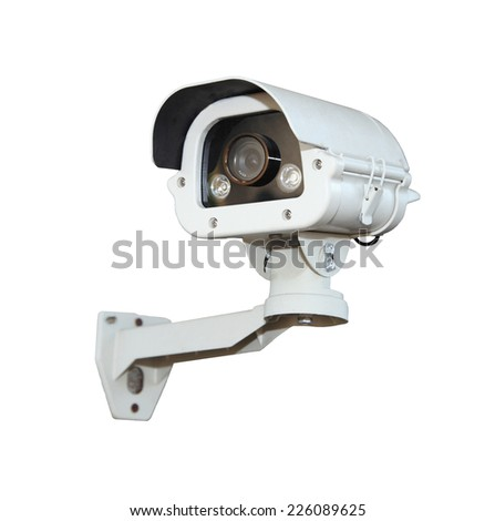 Security Camera or CCTV isolate on white background .