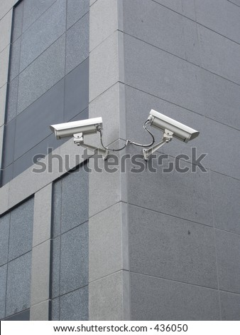 Security cameras - stock photo