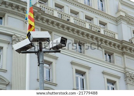 Security Cameras in Europe - stock photo