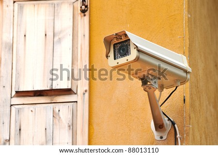 Security cctv cameras - stock photo