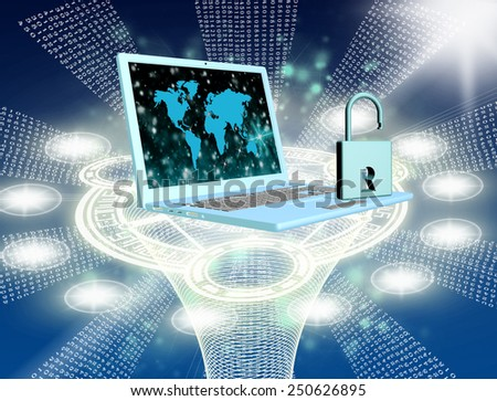 Security computers technology.Internet - stock photo