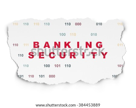 Security concept: Banking Security on Torn Paper background