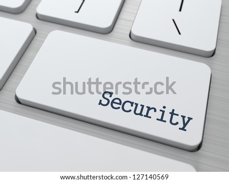 Security Concept. Button on Modern Computer Keyboard with Word Partners on It.