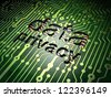 Security concept: circuit board with word data privacy, 3d render - stock photo