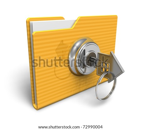 Security concept: locked folder