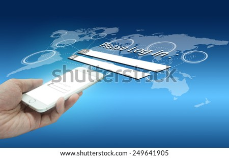 Security concept of smart phone technology - stock photo