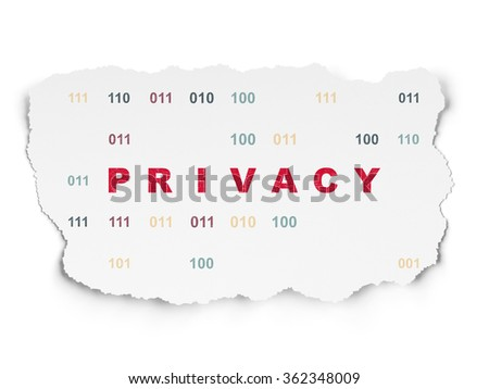 Security concept: Privacy on Torn Paper background