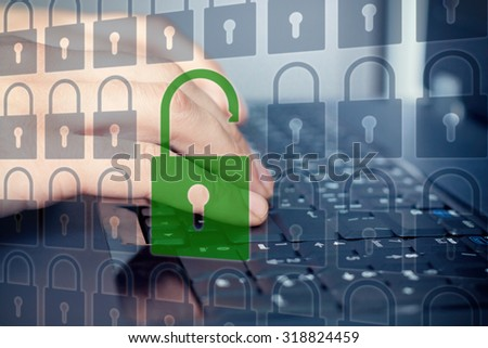 Security concept: Security check passed. - stock photo