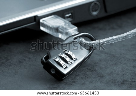 Security concept shot for the digital age. - stock photo