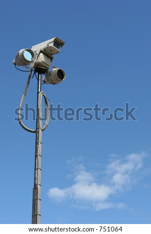 Security equipment __ with room for text - stock photo