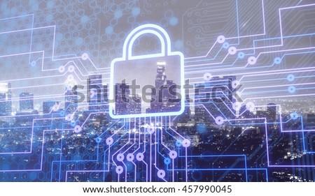 Security graphic. - stock photo