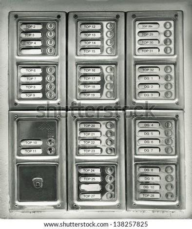 Security intercom - stock photo