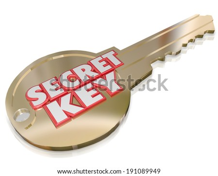 Security Key Words Password Classified Restricted Access - stock photo