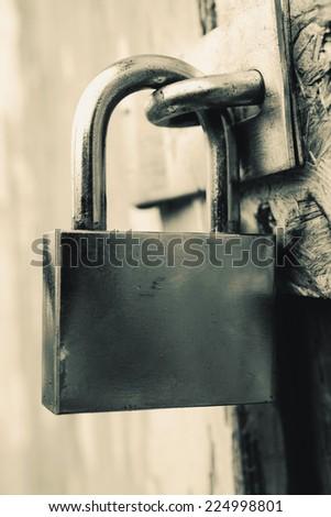 Security lock - stock photo