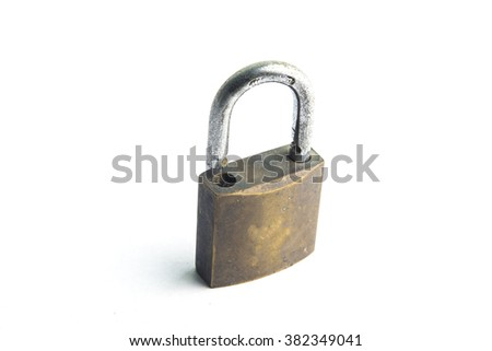 security locks on isolated background