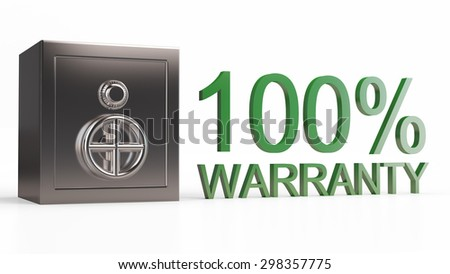 Security metal safe. 3d model isolated background - stock photo