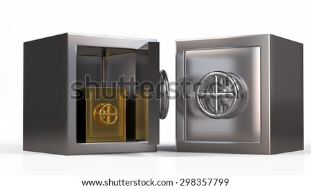 Security metal safe inside another safe model.