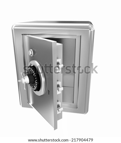 Security metal safe with empty space inside  - stock photo