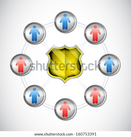 security network concept illustration design over a white background - stock photo