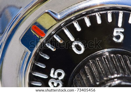security numbers - stock photo