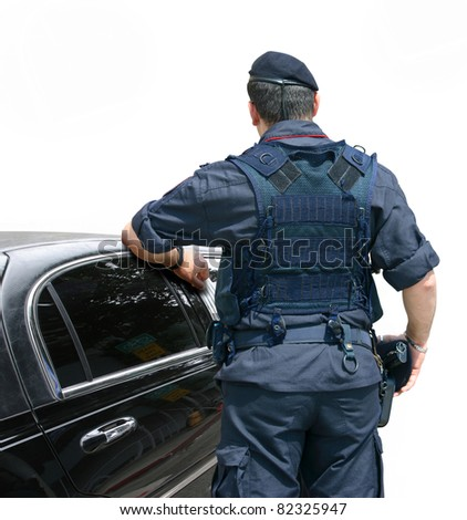 Security Officer - stock photo