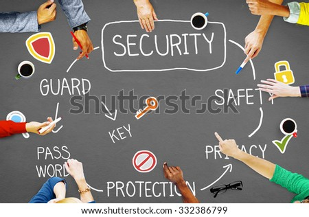 Security Privacy Protection Secrecy Networking Concept - stock photo