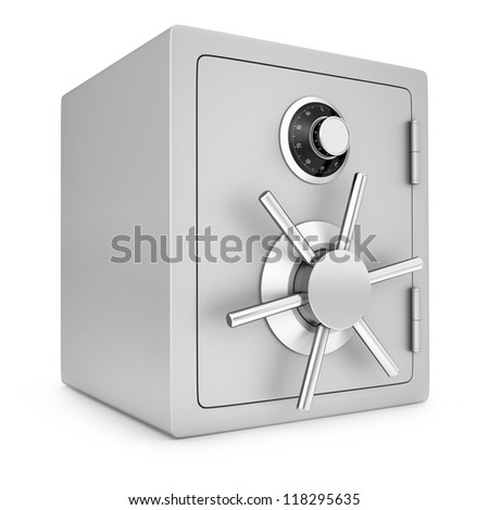 Security safe - stock photo