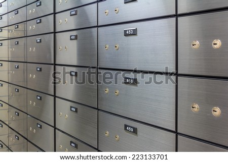 Security Safe Locker In The Room - stock photo
